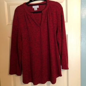 Lightweight red Liz Claiborne sweater